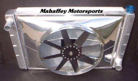 Our new polished fan shroud was well received at recent car shows.